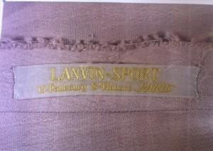 Griffe Lanvin Sport