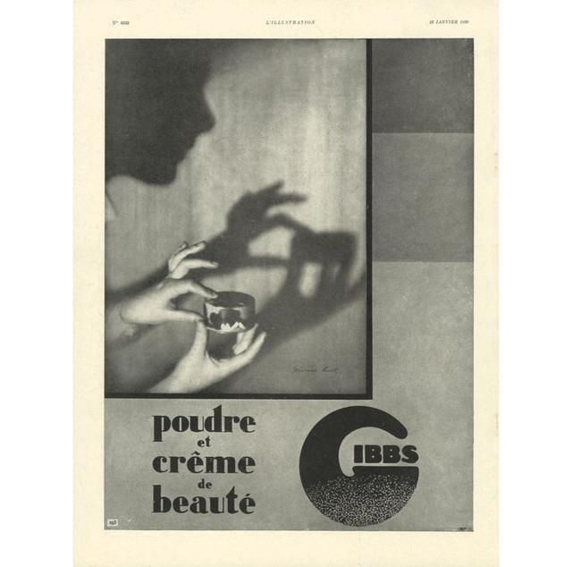 Publicité Gibbs, 1930